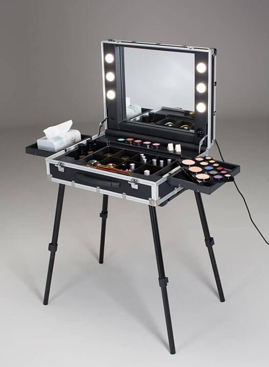 Make-Up Cantoni Case VT.BE Slim, Beleuchtung, Aufstellbeine, Cantoni