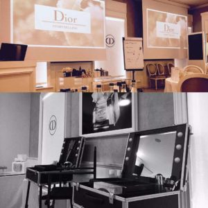 Cantoni Makeup Trolley mit ILight LED für Dior