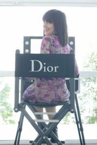 Stuhl für Haare und Make-Up von Cantoni mit Dior Branding