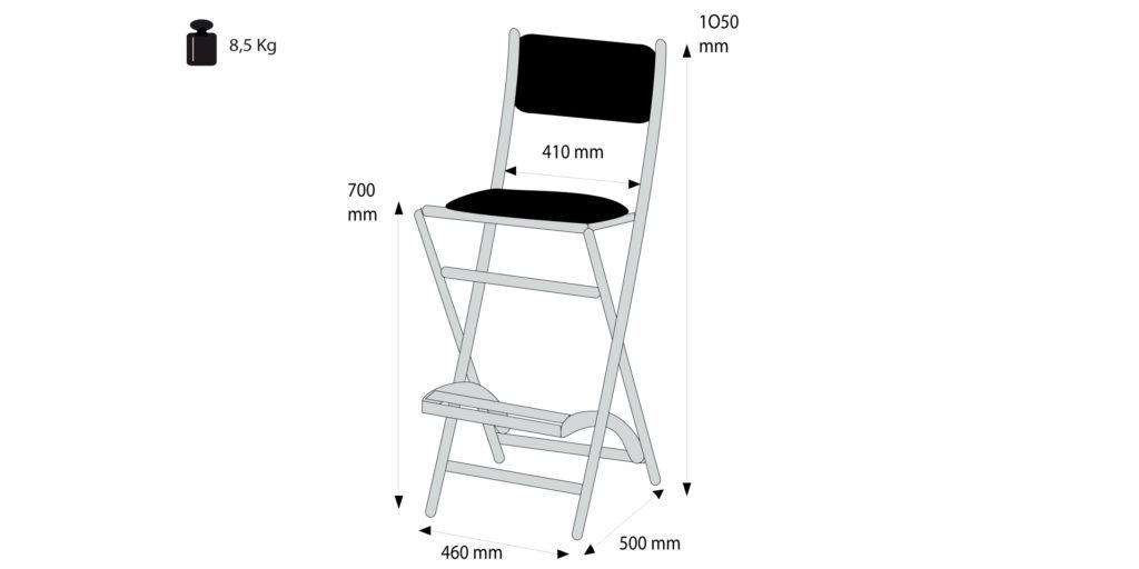 Schminkstuhl S104 Technik Details