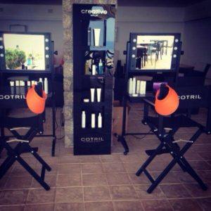 mobile Schminkstationen von Cantoni Backstage bei Cotril Lavagne