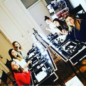 Cantoni I-Light Schminktrolleys Backstage in der Makeup Schulebei Davide Frizzi