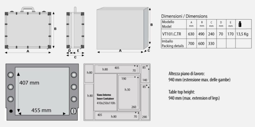 Technische Zeichnung VT101C.TR