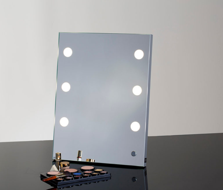 Tisch Make-Up Spiegel MDE504 mit 6 LED ILights