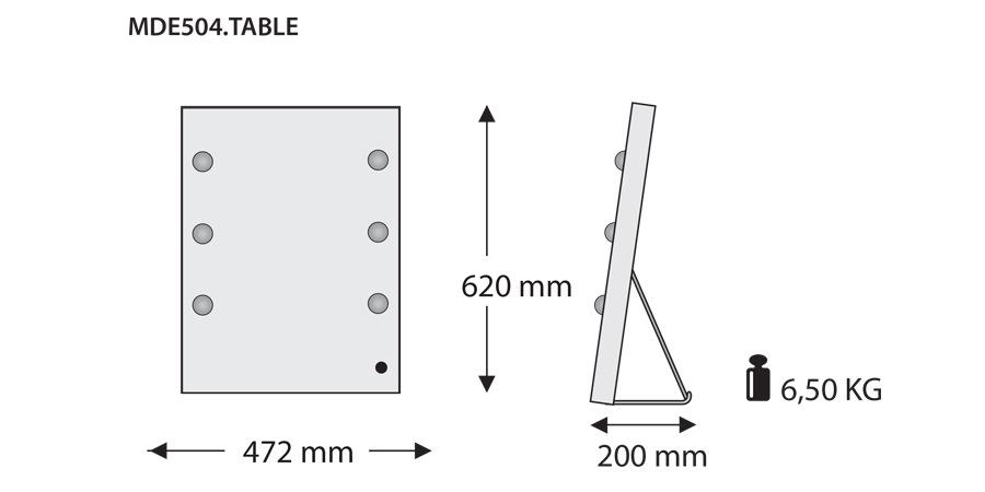 Technische Daten vom Unica Spiegel MDE504