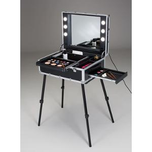 Profi Stylisten Make-Up Koffer mit Beleuchtung