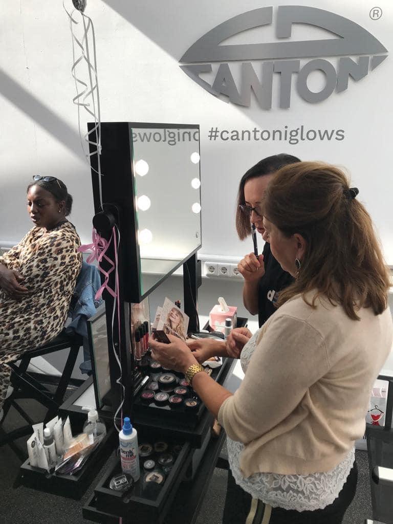 Pop Up Store im Cantoni Showroom Stuttgart mit Schmuck und MakeUp im Cantoni Showroom
