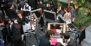 2007 Eröffnung des Cantoni-Showrooms in Japan