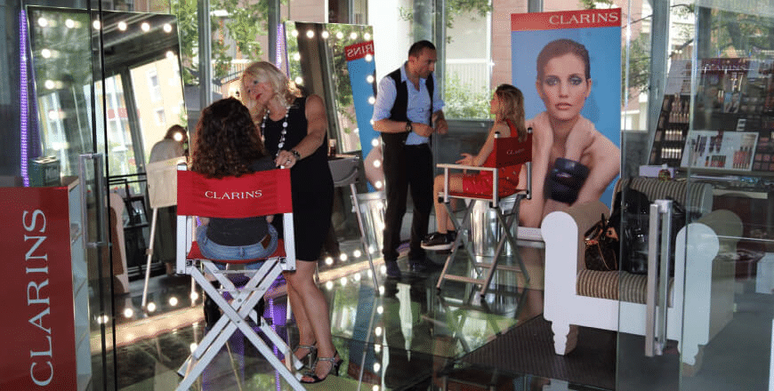 Beauty Event mit Cantoni bei Clarins