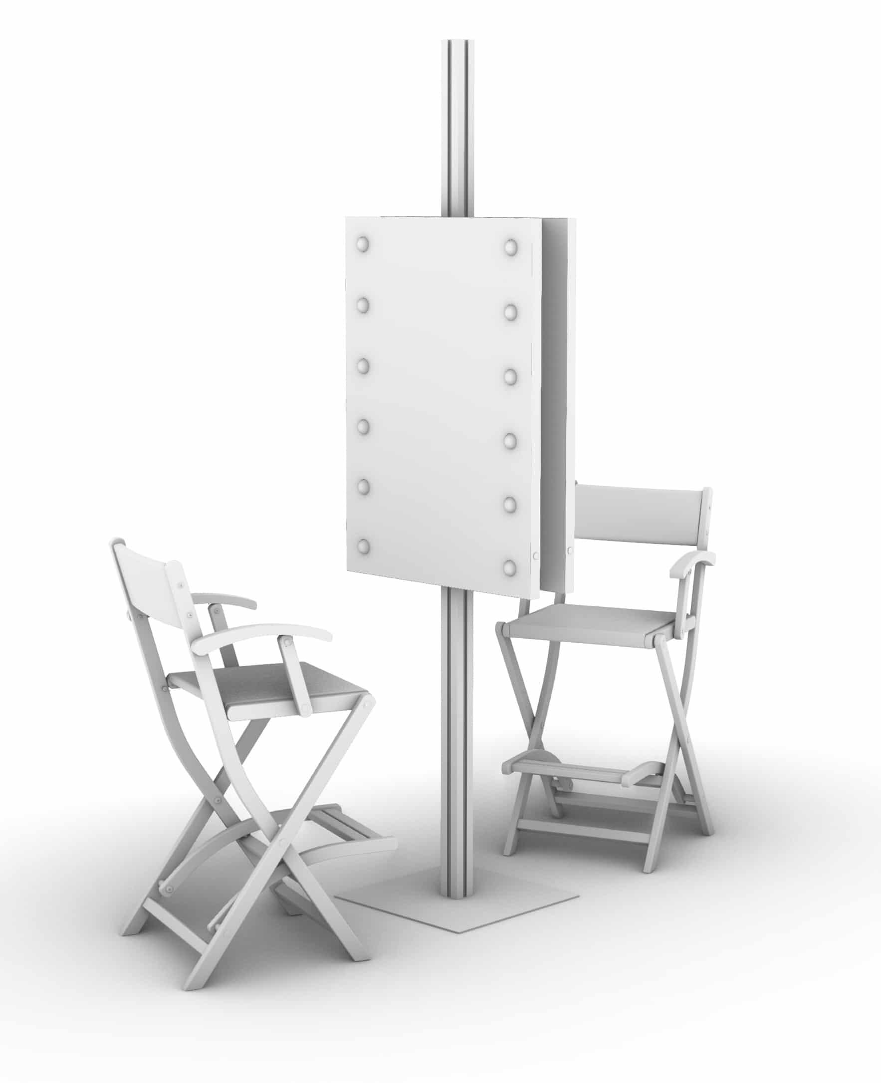 Stand Allone Schminkstation mit 2 Plätzen, Spiegel Unica by Cantoni MDE505