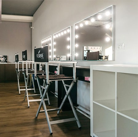 MakeUp Schule mit MDE Spiegel