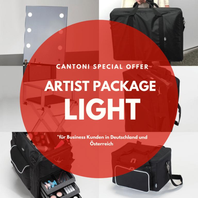 unser Light Package für mobile Hair& MakeUp Artists mit Spiegel, Stuhl und Taschen