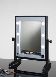 beleuchteter Tischspiegel mit Steckdose Cantoni LTV FM Black