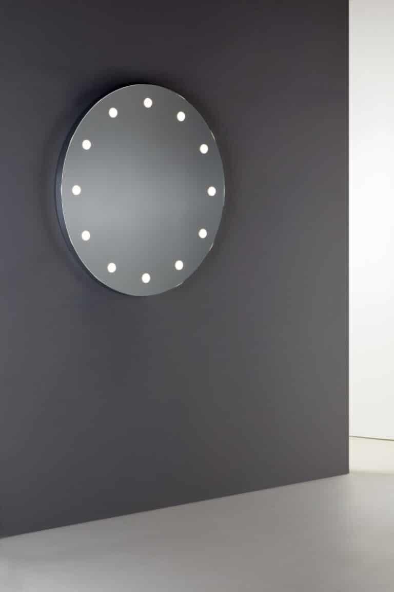 Wandspiegel rund und beleuchtet